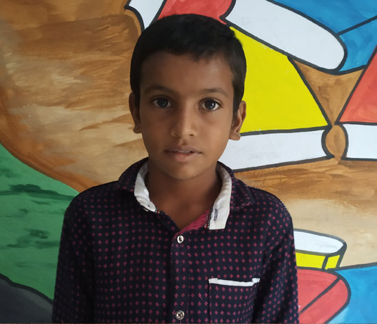 Dalpat, a class 5 student, has been helping the Parag team distribute school books to other students