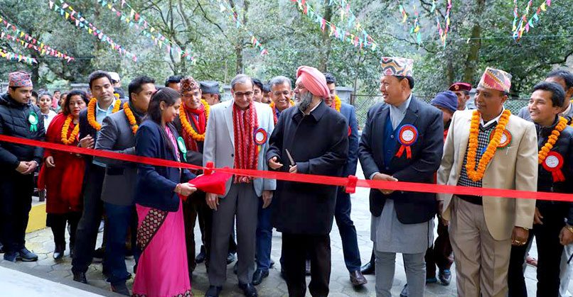Ceremonial opening of Shree Sharada Secondary School by His Excellency Manjiv Singh Puri, Ambassador of India to Nepal. BS Taraporevala, Senior Advisor, Tata Trusts, and other officials of the Nepal Government and Sipradian also present