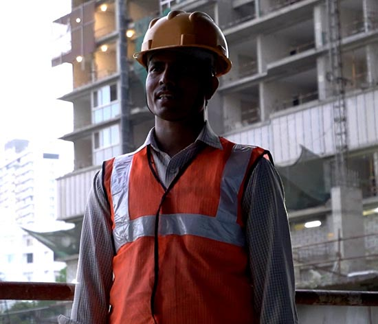 Ramesh Chourasiya, a construction worker in Maharashtra