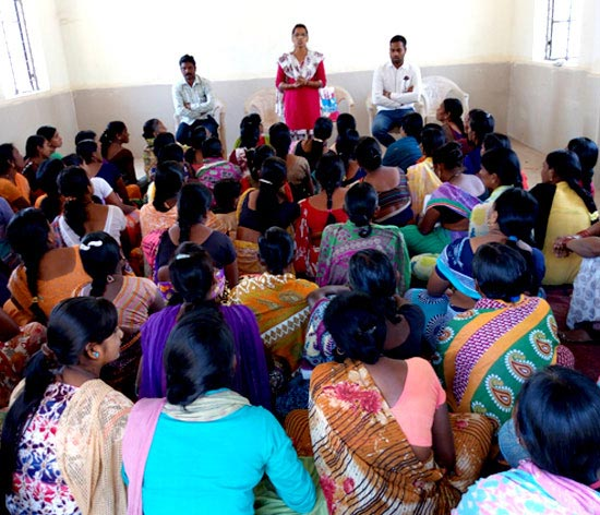 Spreading awareness about government schemes that the villagers can benefit from