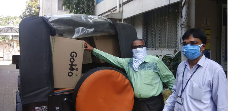 GoMo packets being delivered to the migrant workers