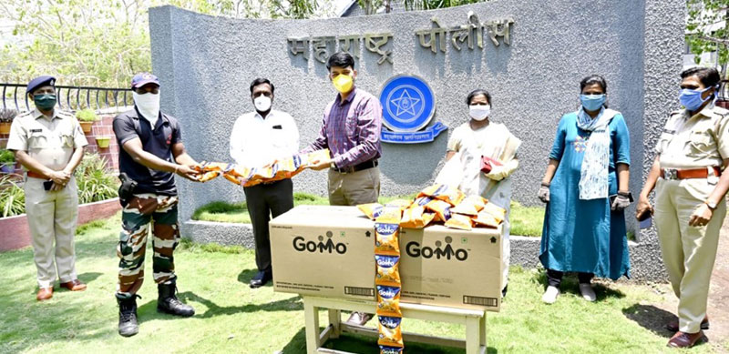 GoMo packets were delivered to the Solapur Police Department in Maharashtra