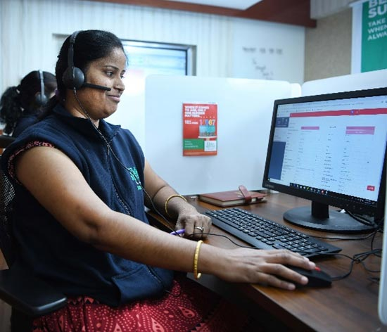 The Elder Spring Response System call centre at Hyderabad