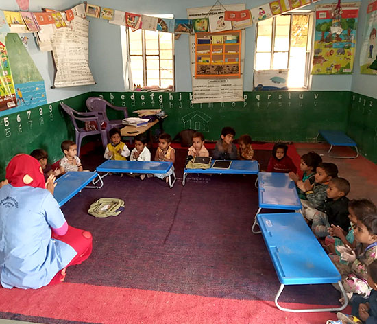 Children at an anganwadi