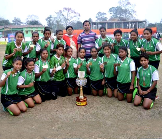 Winners of the Assam Sub-junior Girls National Championship, B-Division 2018