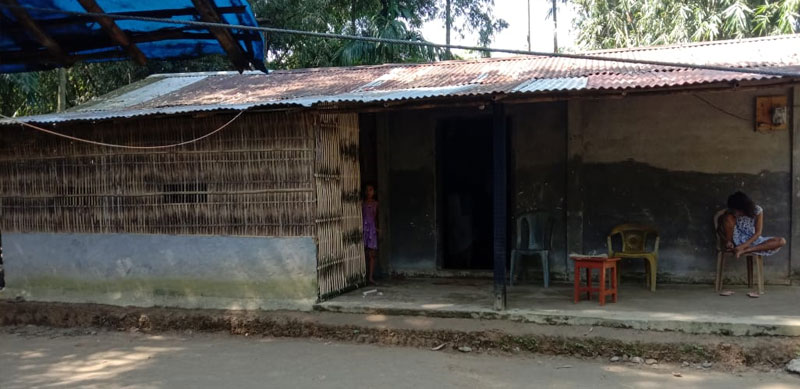 Munmuni's house in Joriguri, Tinsukia district