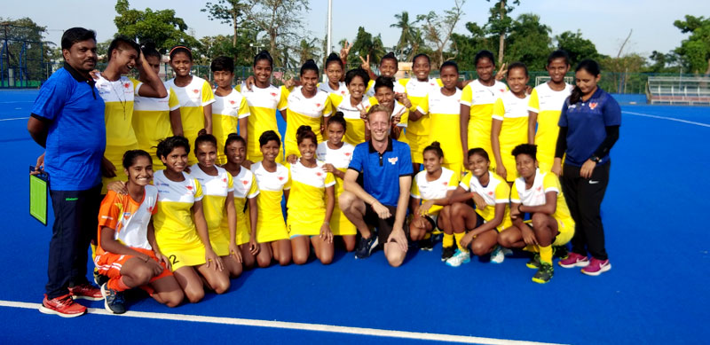 Practice at NTHA – Munmuni with her coaches and other team members