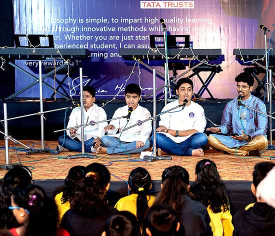 Learners of Hindustani classical music present a 'Bandish' at the Govandi centre launch