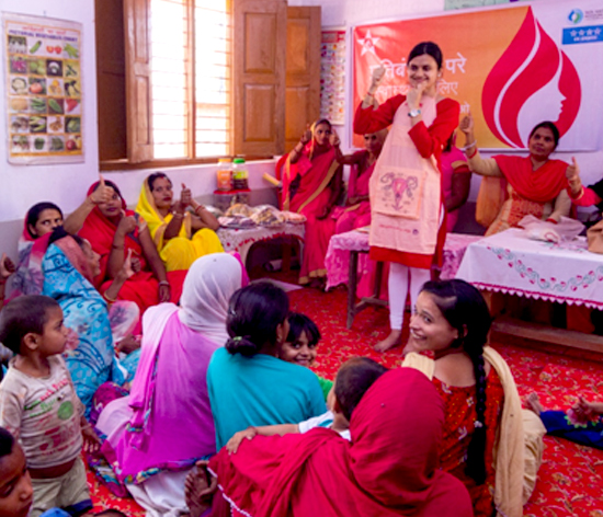 Workshops and behaviour change communication sessions help disseminate scientific information about menstruation and hygiene – women understanding the biological aspect of menstruation
