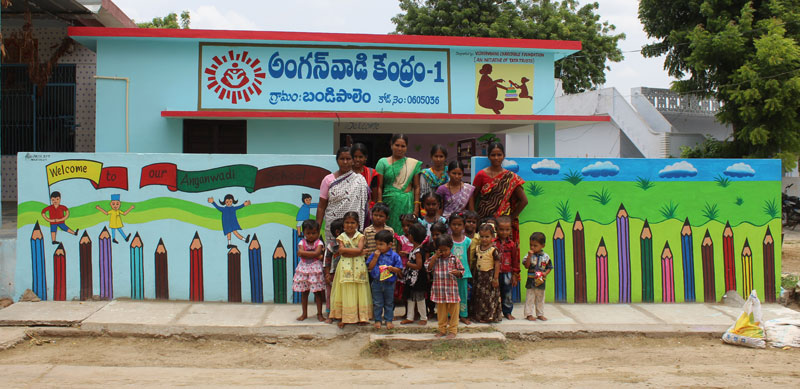 Glimpses of an integrated transformation of an anganwadi
