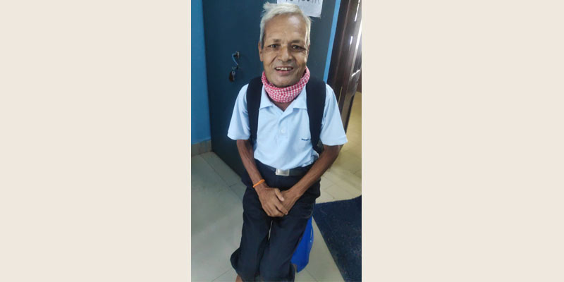 Bhushan Lal, a happy patient, appreciates the dedication and efforts of the palliative care team