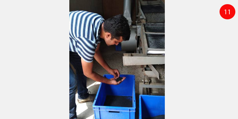 Seed grading and processing at Himmotthan
