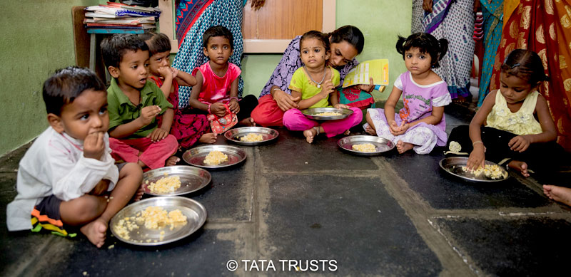 Fortified rice forms the nucleus of mid-day meals at anganwadis in Vijaywada district
