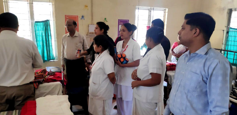 The medical team being trained for the palliative care services