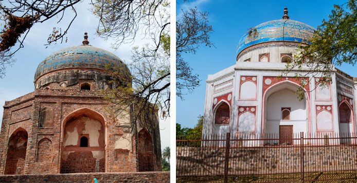 Nila Gumbad, built in the 1530s, opened to public in August 2019. Access to this World Heritage Monument is through the restored Humayun's Tomb complex