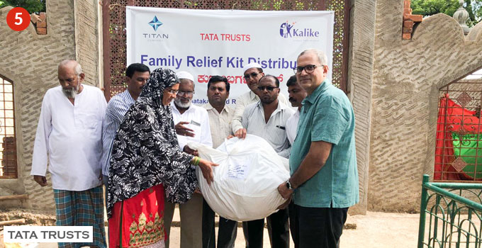 A separate cell took note of the concerns of families that were not on the list. Genuinely affected families were included as beneficiaries and given relief kits. The kits included essentials such as blankets, towels, clothes, candles, matchsticks and sanitary napkins.