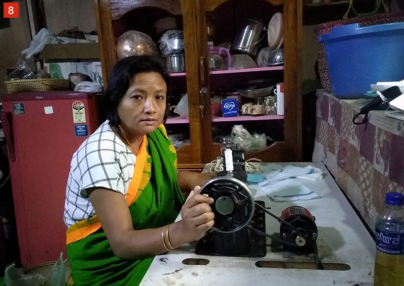 Kanbagam Anandi Devi's solar-powered sewing machine, which she received under the Trusts' energy initiative in Manipur, came to the rescue in the most unlikely way during the COVID-19 crisis. It helped her earn an income during the pandemic by sewing face masks to combat a shortage in the state, while helping in the fight against Covid-19.
