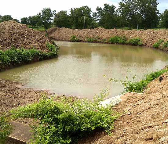 The water canal in Kadampur now has an increased water holding capacity