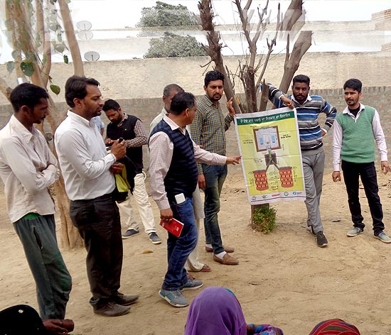 Step-by-step instructions ease the challenges of building a toilet for Mansa villagers